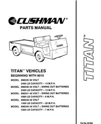 1990 1994 Parts Manual For Cushman Titan Utility Vehicle