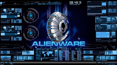 hud theme evolution rainmeter alienware media skin