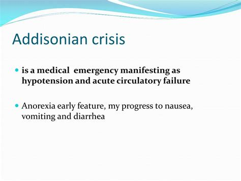 addisonian crisis ppt adrenal insufficiency powerpoint presentation id 395764