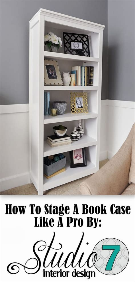 how to stage a bookcase home decor cases