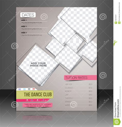 design competition poster template dance club flyer stock vector image 42575047