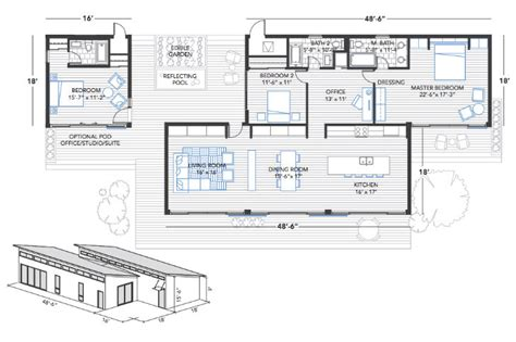 home floor plans for building blu homes unfolds a glidehouse prefab on vashon island in