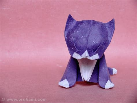 Kitten Origami - beautiful exles of origami paper hongkiat