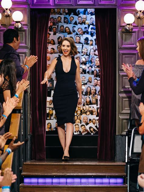 alison brie late show alison brie seth rogen will arnett appeared on james