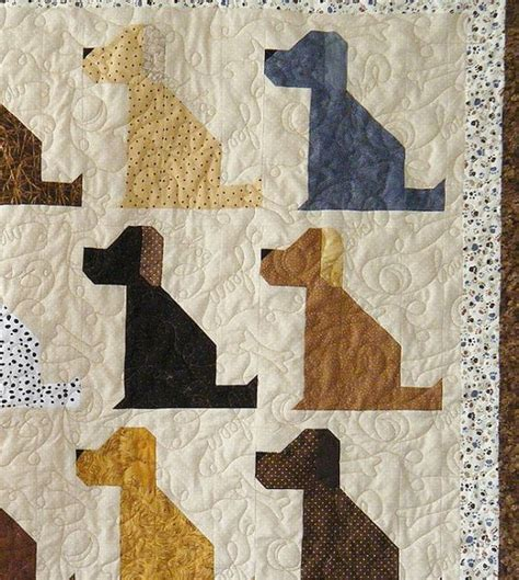 Puppy Quilt Pattern by Quilts Quilt And Dogs On