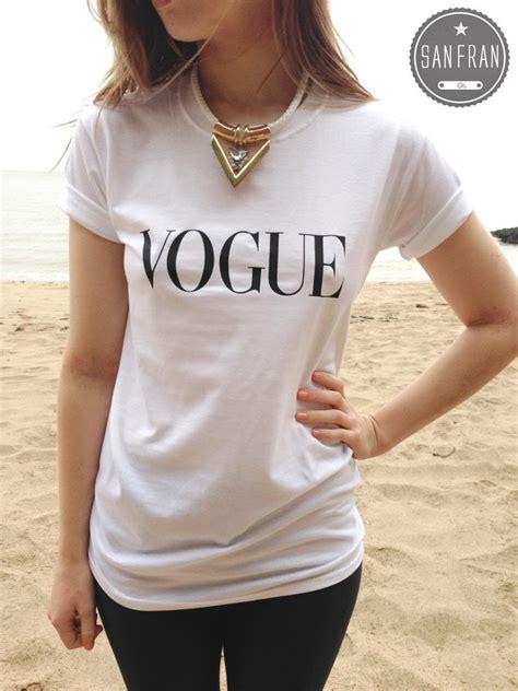t shirt pattern vogue vogue fashion t shirt top white black grey retro hipster
