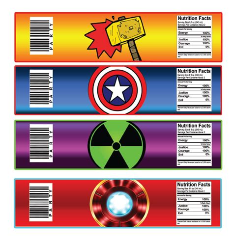 free superhero labels new calendar template site