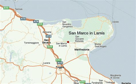 map of foggia italy san marco in lamis location guide