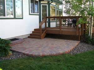 deck patio combination deck patio combinations decktec outdoor designs