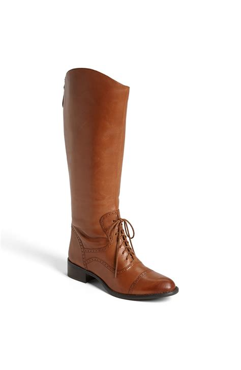 franco sarto ridge boot in brown desert camel leather lyst