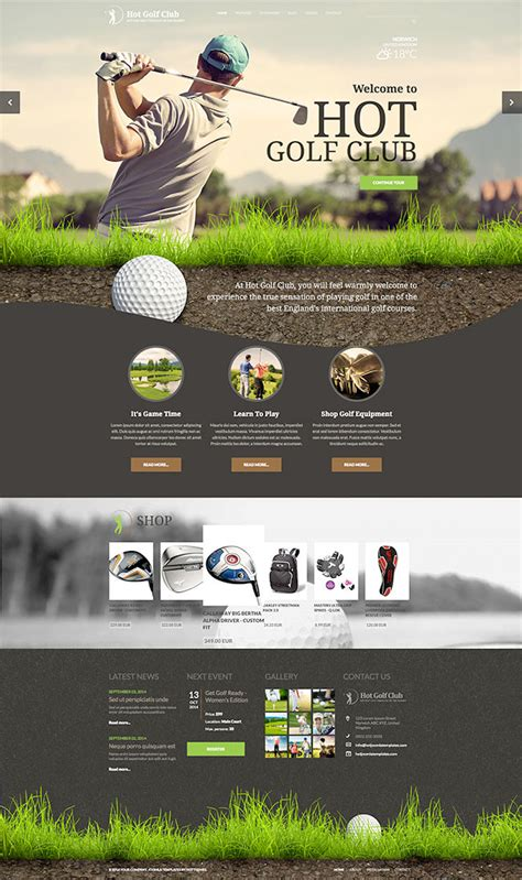 golf templates free responsive golf template