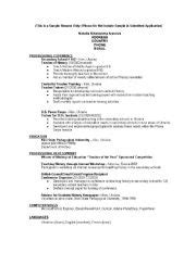 the curriculum vitae handbook model of cv in
