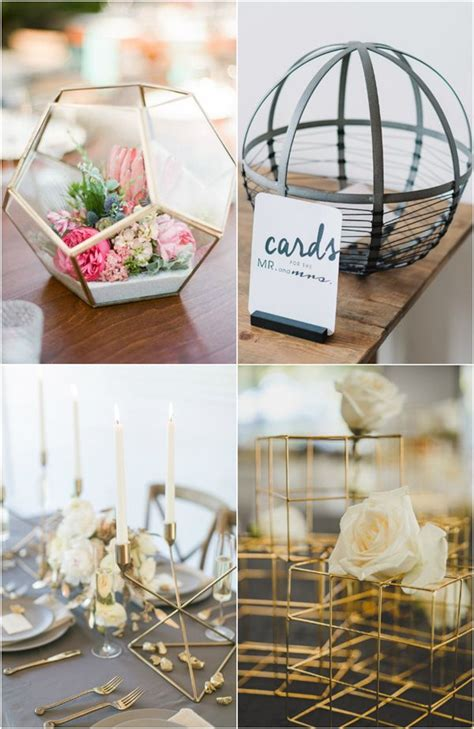 industrial wedding table decorations best 25 modern wedding centerpieces ideas on