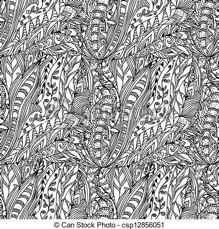 doodle line drawings clipart vector of abstract ink designs doodle seamless