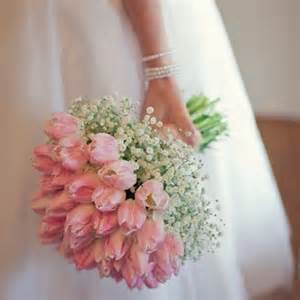More wedding idea spring wedding bridalbouquet pink tulip pink tulips