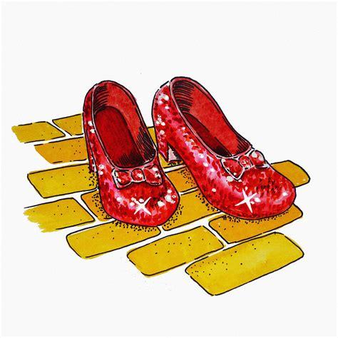 the wizard of oz slippers ruby slippers the wizard of oz painting by irina sztukowski