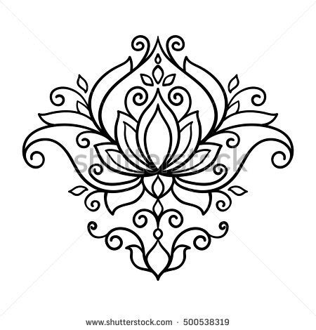 vector abstract oriental style flower lotus stock vector