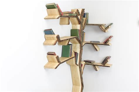 the yew tree shelf a corner shelf tree design by bespoak