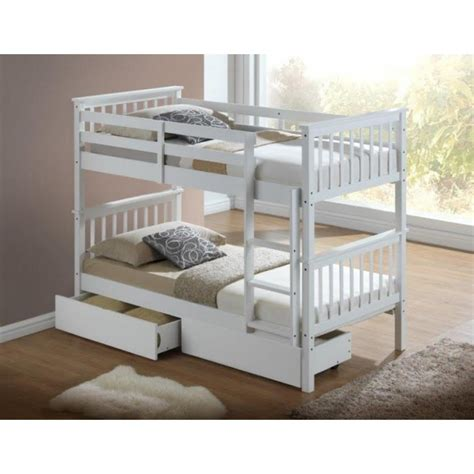 White Wood Bunk Beds Uk Artisan White Wooden Bunk Bed Frame Children Bunk Bed