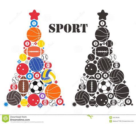 unusual christmas tree sport royalty free stock image
