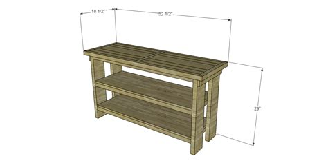 build a console table build a luberon console table