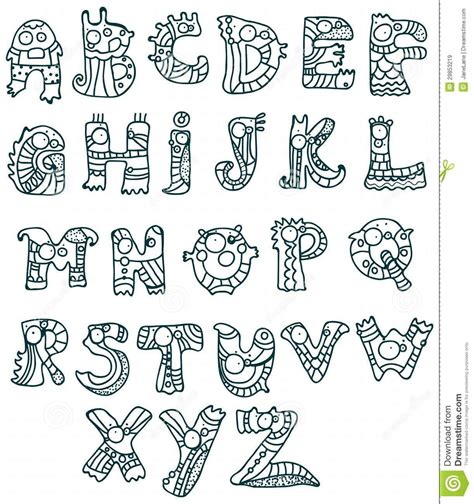 design with font cool letter designs alphabet joyful cartoon font from