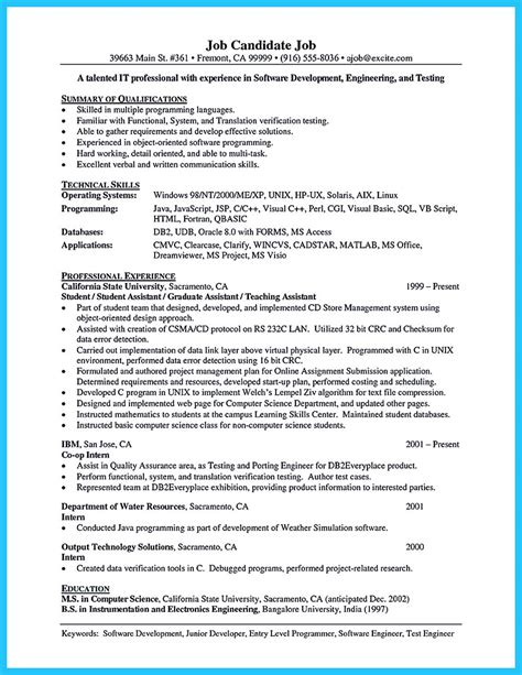 Ms Access Developer Sle Resume by Resume Ms Access Developer