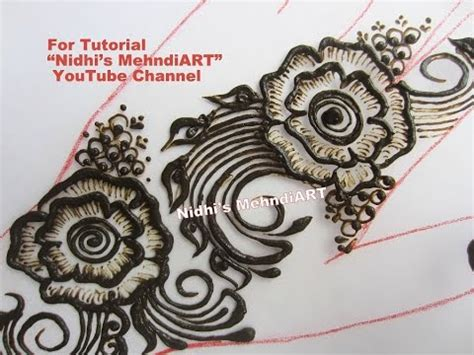 henna tattoo shading tutorial how to do shading in flower arabic henna mehndi