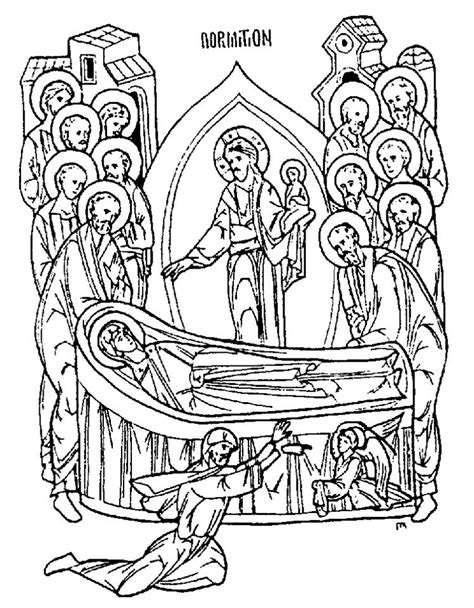 nativity icon coloring page cbcfd byzantine coloring books feast days st joseph
