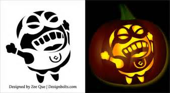Pumpkin Pattern Template by 5 Free Minion Pumpkin Carving Stencils Patterns