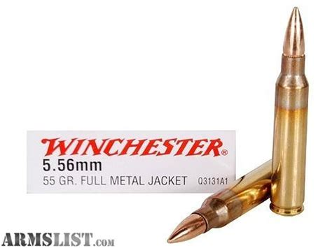 Rd Smallrd 15gr armslist for sale sold 600 rd winchester 5 56 fmj 55 gr ar 15 ammo brass cased