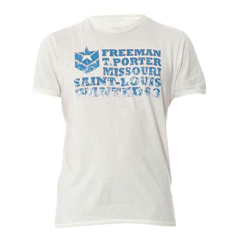 wanted freeman freeman t porter wanted t shirt blanc brandalley