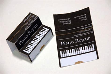 piano business card template dise 241 os de tarjetas de presentaci 243 n creativas