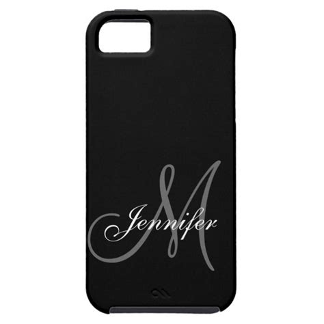 Iphonen 5 5s Se Simple Black And White Stripes Cassing Hardcase simple black grey your monogram your name iphone se 5 5s plus