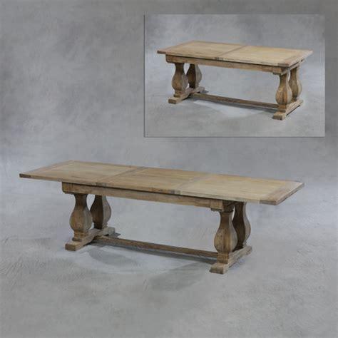 reclaimed elm extending dining table
