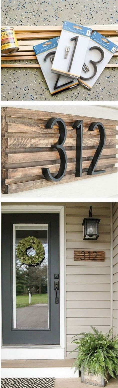 pin  brittany deaville  home rustic house numbers