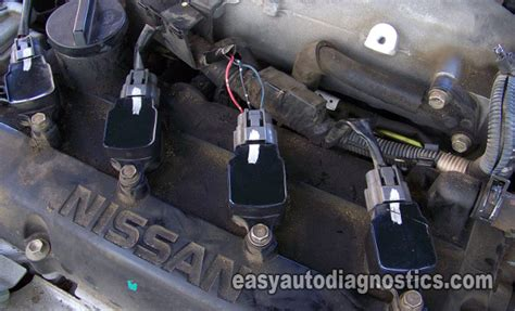 defective capacitor in the spark module ignition coil diagram for 2005 nissan an nissan auto parts catalog and diagram