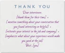 what to write in a thank you note after an an and infos