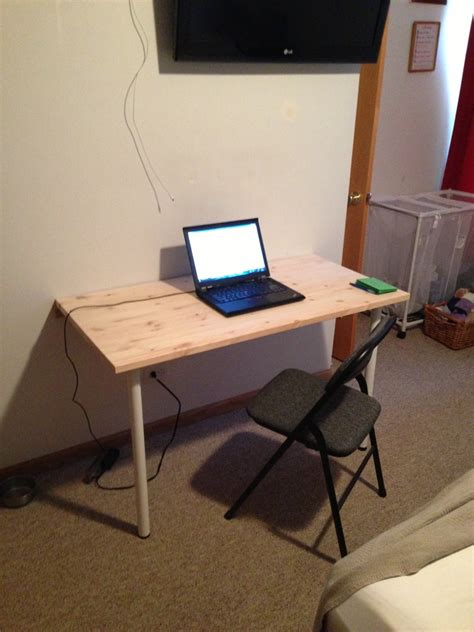 Fold Down Desk | how to build a wall mounted fold down desk table