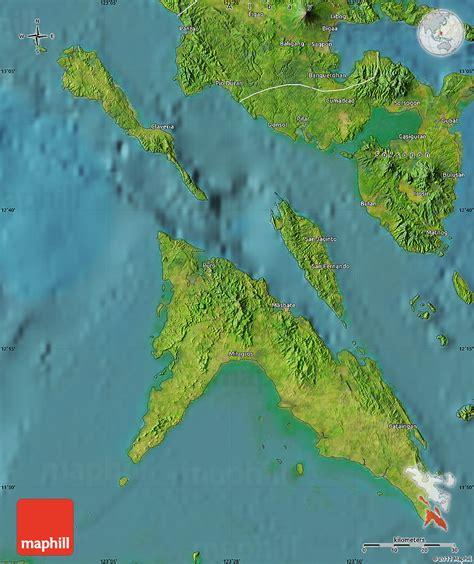 map philippines satellite satellite map of masbate