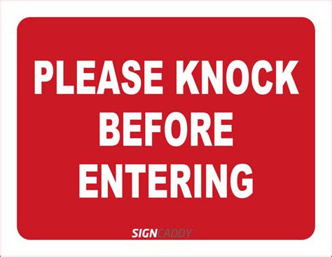 Knock The Door Sign by Pin Pleaseknock On