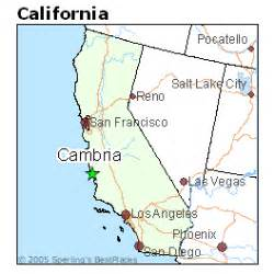 map of cambria california best places to live in cambria california