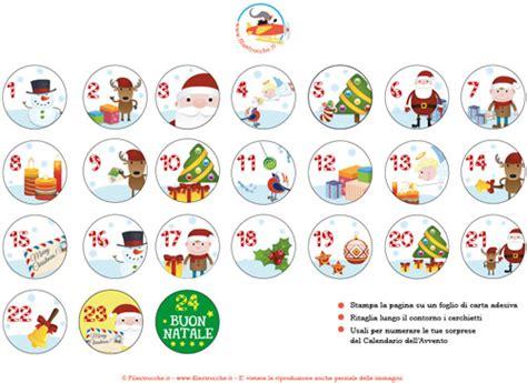 I Calendario Dell Avvento Numeri Per Il Calendario Dell Avvento Rotondi