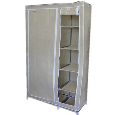 portable armoire xmas sale quality portable wardrobe beige