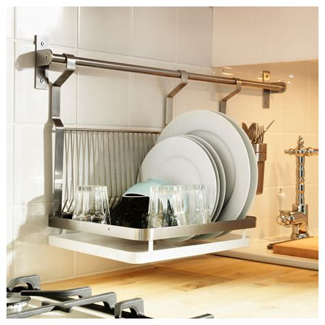 Wall Hang Dish Rack easy kitchen storage solutions using your backsplash