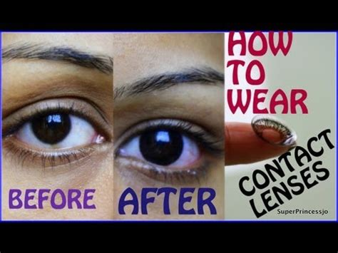 how to wear contact lenses for first time tutorial