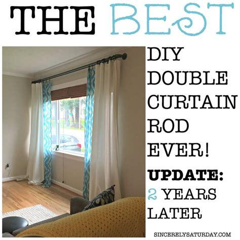 diy double curtain rod best 25 double curtain rods ideas on pinterest double