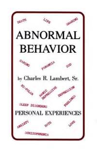 abnormal behavior personel experiences by charles r