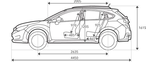 Subaru Crosstrek Dimensions Subaru Xv Dimensions