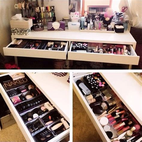 Vanity Organization | 2 drawer makeup vanity organization one chair salon